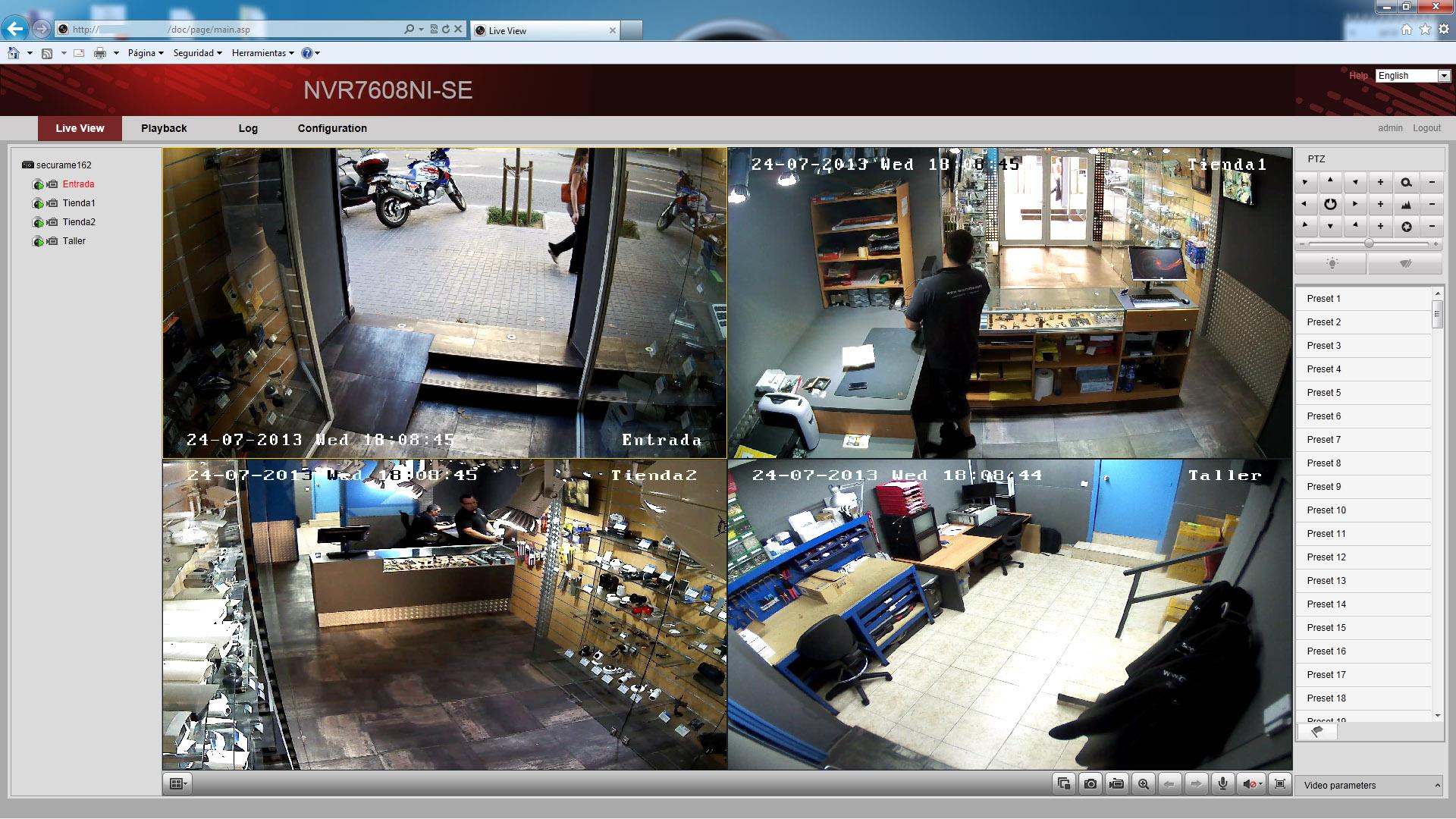 Sistema de videovigilancia ip de hikvision securamente - Sistemas de videovigilancia ...