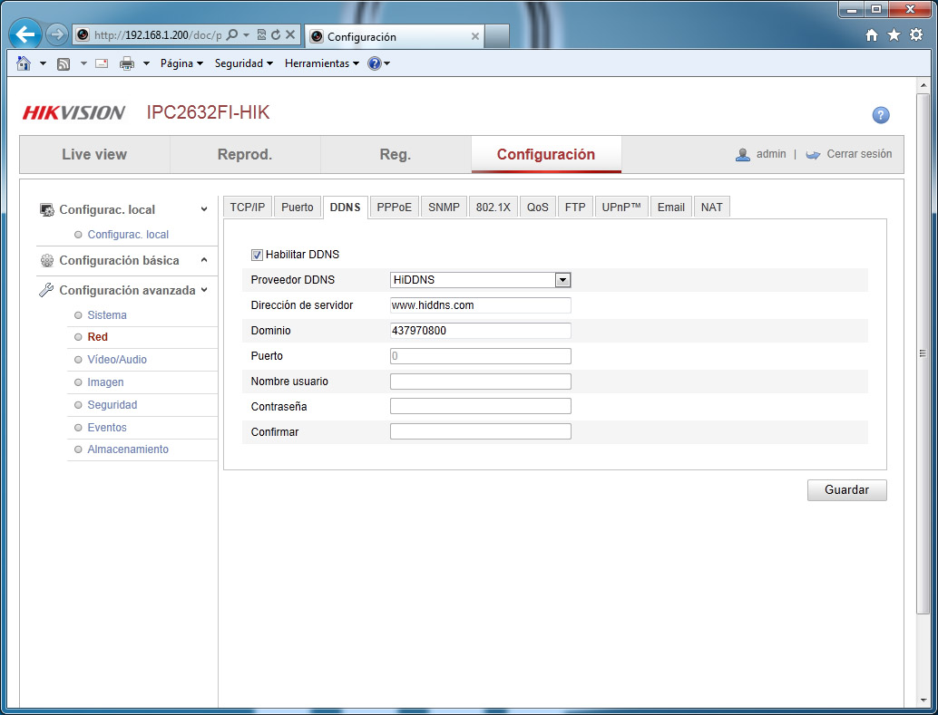 Como utilizar el servicio de DNS dinámico HiDDNS (HIK-ONLINE