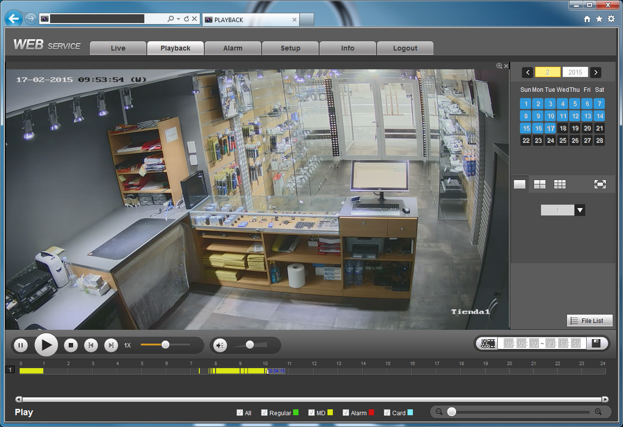 Dahua: Como visualizar y descargar grabaciones de un