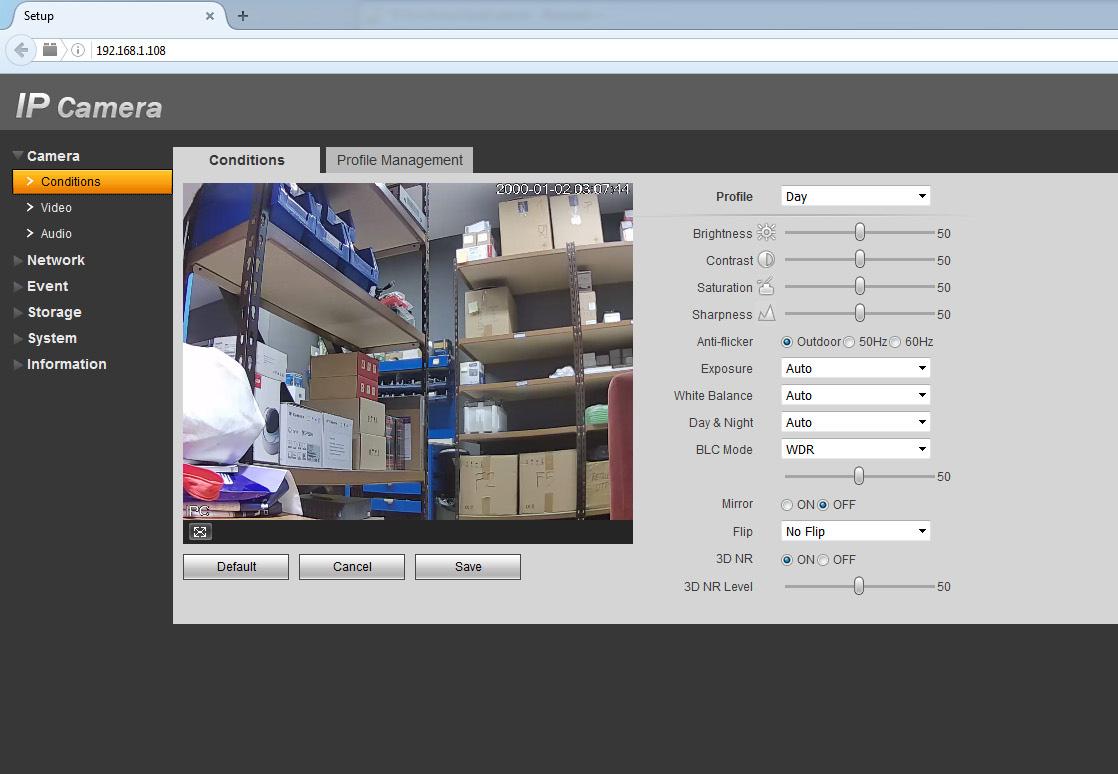Configuración básica de una cámara IP cube de Dahua