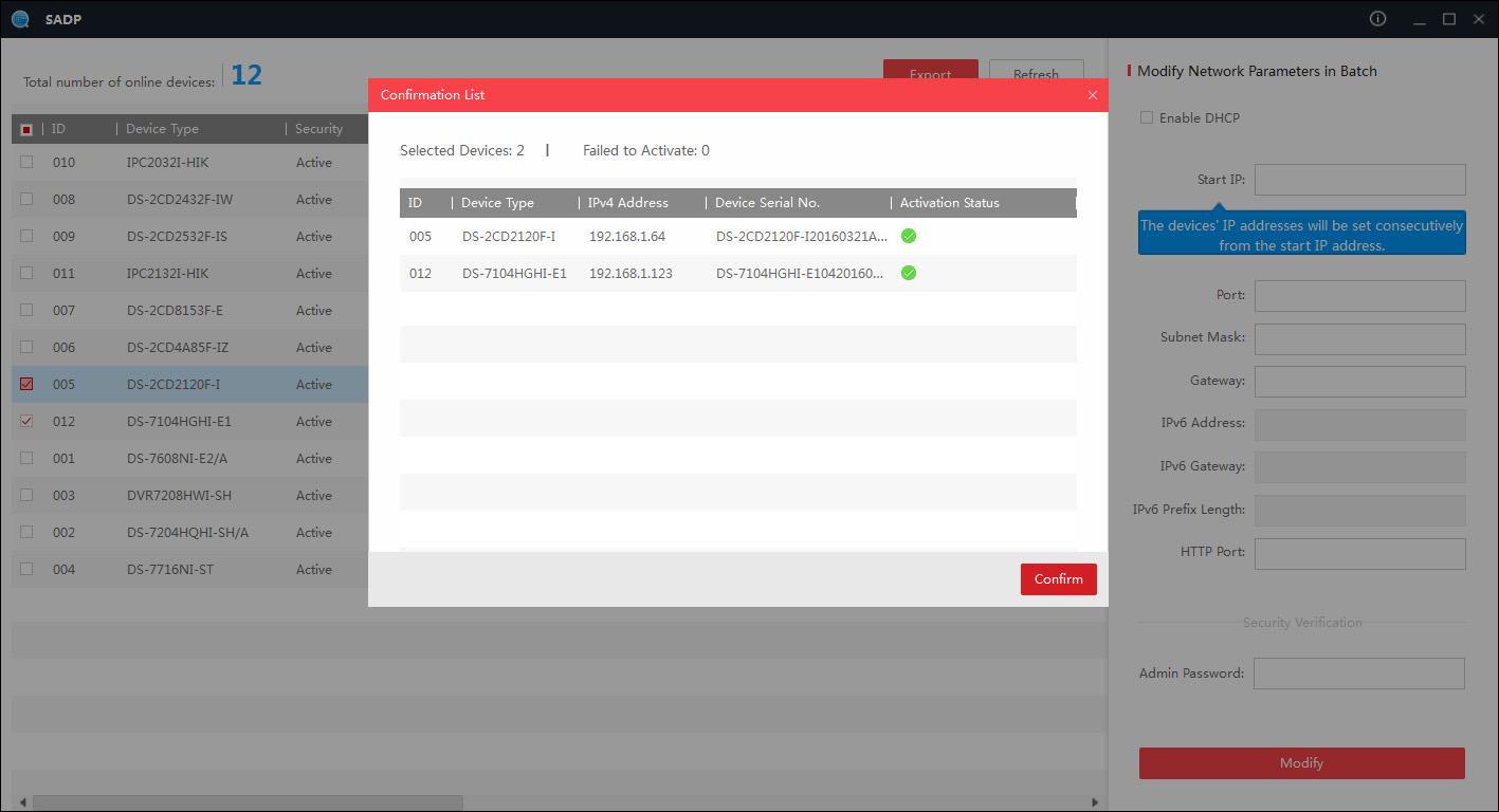 Como activar un dispositivo Hikvision mediante web o SADP