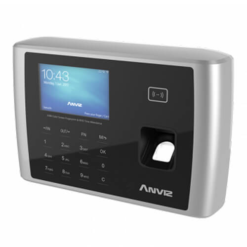 Control de presencia Anviz A380 Huellas RFID Teclado TCP/IP Wifi RS232 USB Flash relé