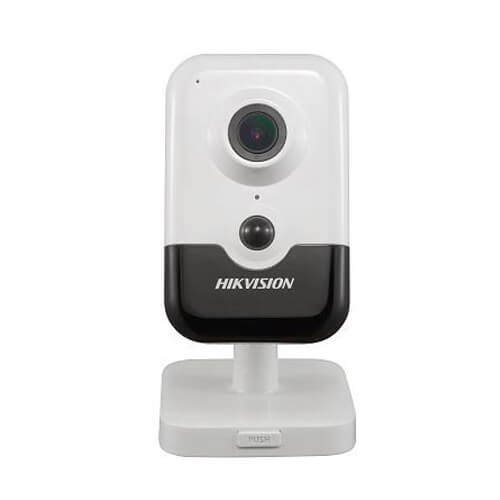 Cámara Cube IP Hikvision DS-2CD2443G0-IW 4MP PRO IR10m 2.8mm H265+ Wifi POE PIR SD WDR Audio Alarmas