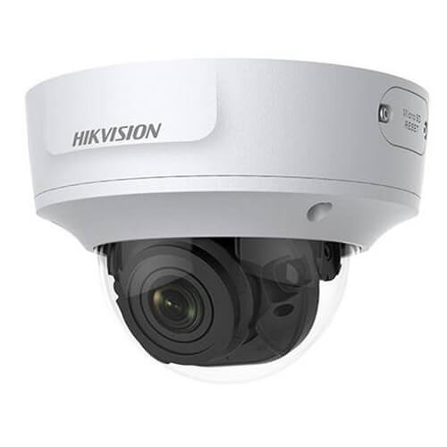 Domo IP Hikvision DS-2CD2723G0-IZS 2MP PRO IR30m 2.8-12mm motorizada H265+ POE SD WDR Audio Alarmas