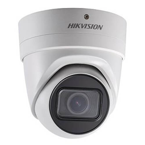 Domo IP Hikvision DS-2CD2H43G0-IZS 4MP PRO IR30m 2.8-12mm motorizada H265+ POE SD WDR Audio Alarmas
