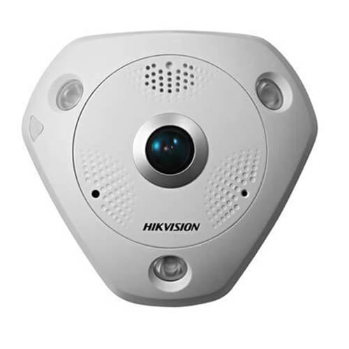Cámara Panorámica IP Hikvision DS-2CD6332FWD-I 3MP IR15m 1.19mm (fisheye) ePTZ H264 POE SD