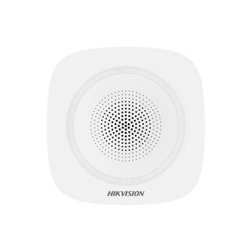 Sirena Hikvision AXPRO DS-PS1-I-WE para interior (110db) con luz roja