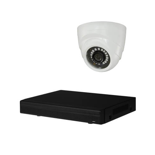 Kit videovigilancia 3 cámaras HD 1MP disco duro 1Tb interior PVC