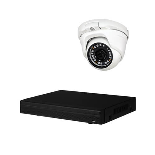 Kit videovigilancia 5 camaras HD 1Mp disco duro 1Tb exterior
