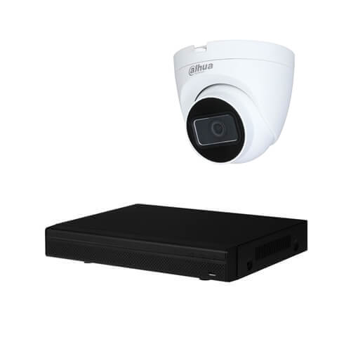 Kit videovigilancia 2 cámaras Full HD 2MP disco duro 1Tb interior PVC