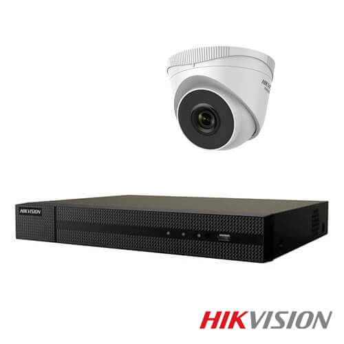 Kit videovigilancia 8 camaras IP Hikvision Full HD 2Mp POE disco duro 2Tb exterior