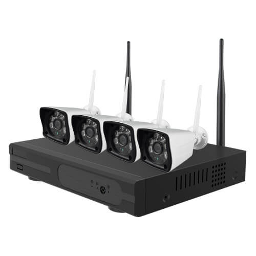 Kit videovigilancia wifi Nivian 4 cámaras 2MP NV-KIT420W-H