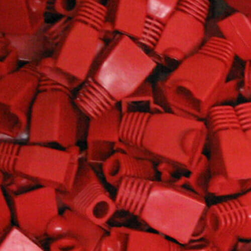 Protector cable red RJ45 Rojo
