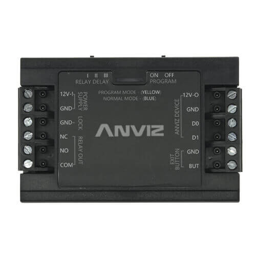 Controladora independiente ANVIZ SC011 Wiegand26 Pulsador Relay NO/NC