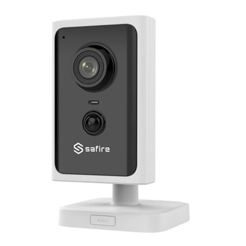 Cámara IP Safire SF-IPCU202AWH-2W 2MP IR10m 2.8mm H265+ Wifi POE PIR SD WDR Audio