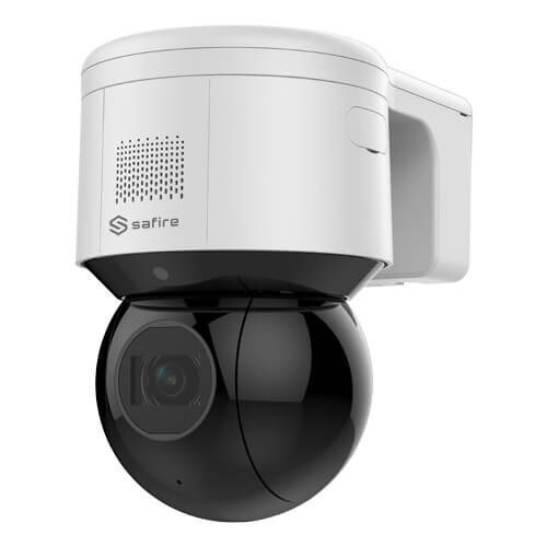 Domo PTZ IP Safire SF-IPSD4704IHA-4P 4MP IR50m 2.8-12mm motorizada Zoom4x H265+ POE SD WDR Audio
