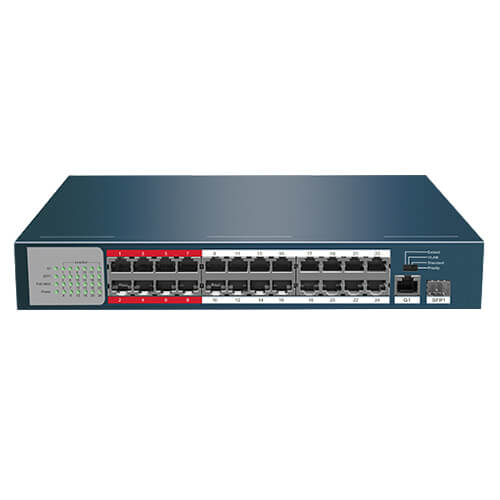 Switch Safire SF-SW2624POE-225 24-port 10/100M POEx24 SFPx2 225W
