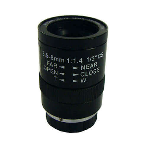 Óptica varifocal manual iris para cámara 3.5 - 8mm SSV0358