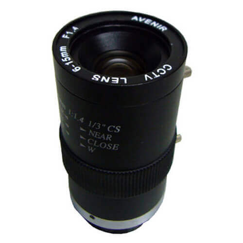 Óptica varifocal manual iris para cámara 6 - 15mm SSV06015